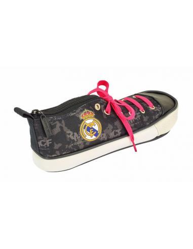 Estuche portatodo zapatilla oficial del Real Madrid