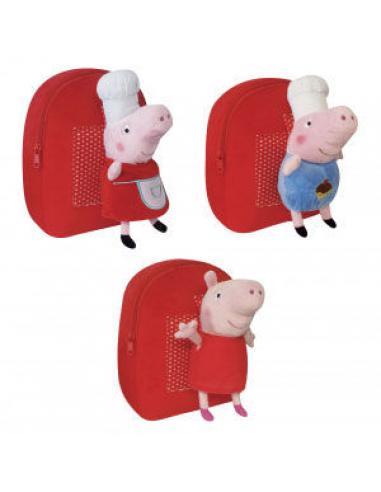 Mochila peluche 25cm de Peppa Pig - Imagen 1