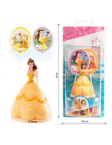 Kit decoracion tartas Bella Disney pinchos - Imagen 1
