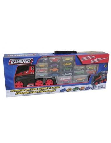 Camión portacoches de Juguete con 6 coches de Teamsterz 2