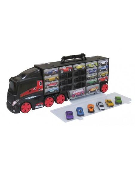 Camión portacoches de Juguete con 6 coches de Teamsterz