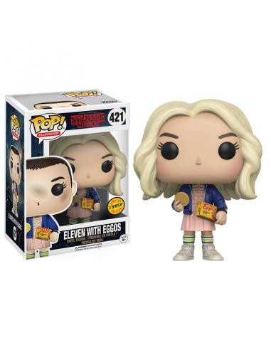 Figura POP Stranger Things Eleven with Eggos Chase - Imagen 1