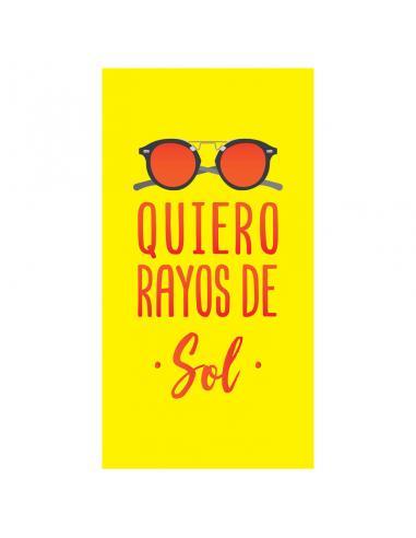 Toalla Quiero Rayos De Sol microfibra - Imagen 1