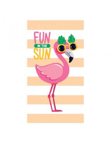 Toalla Flamingo Fun In The Sun microfibra - Imagen 1