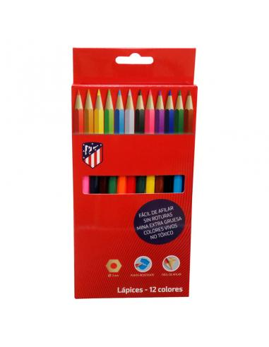 Caja lapices colores Atletico de Madrid - Imagen 1