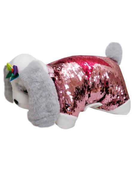 Cojin peluche lentejuelas Mastin Doggie Star - Imagen 1