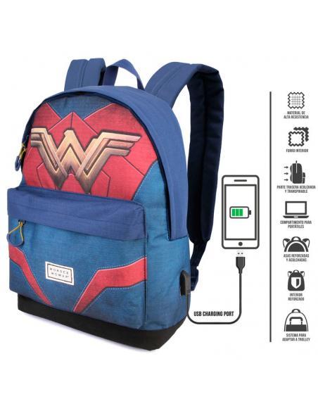 Mochila Wonder Woman DC Comics adaptable 42 cm. 2