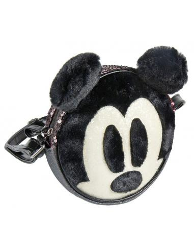 Bolso 3D Peluche y Lentejuelas de Mickey Mouse Disney.