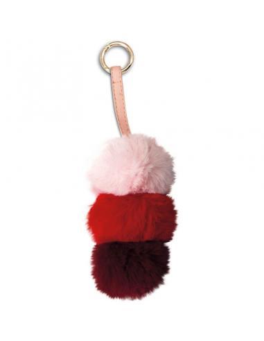 Llavero peluche Pompon rosa - Imagen 1