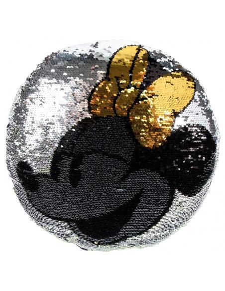 Cojín Minnie Mouse Disney con lentejuelas. 2