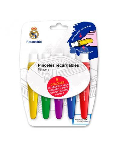 Caja temperas Real Madrid en pincel - Imagen 1