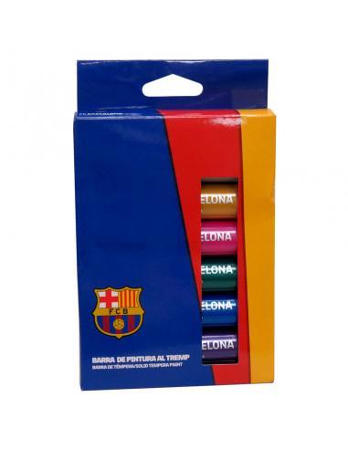 Caja temperas FC Barcelona en barra - Imagen 1