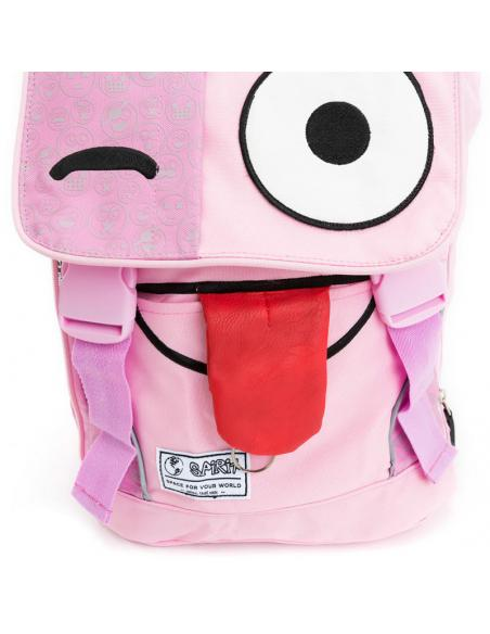 Mochila Spirit Emoticons Pink solapa - Imagen 4
