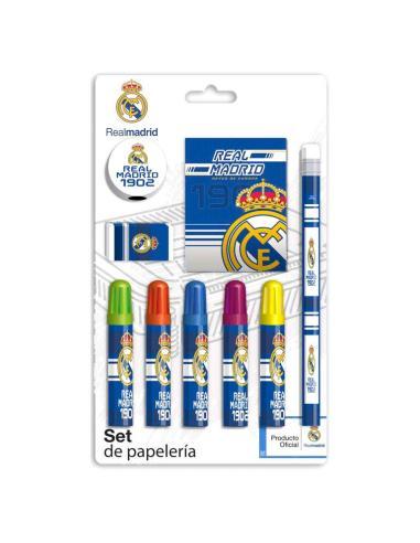 Set papeleria Real Madrid 9pzs - Imagen 1