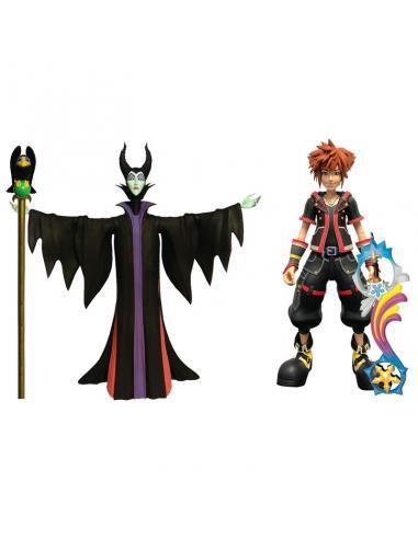 Pack 2 figuras diorama Malefica & Sora Kingdom Hearts 3 Disney 18cm - Imagen 1