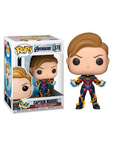 Figura POP Marvel Vengadores Endgame Captain Marvel with New Hair - Imagen 1