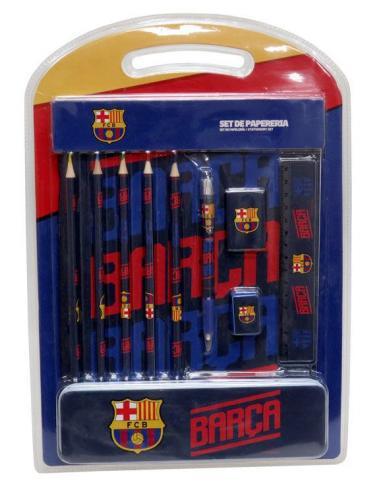 Set papelería con estuche de metal de FC Barcelona - Imagen 1