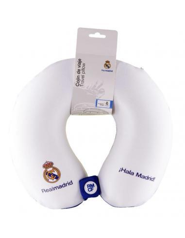 Cojín Cervical de Viaje Blanco Real Madrid - Imagen 1