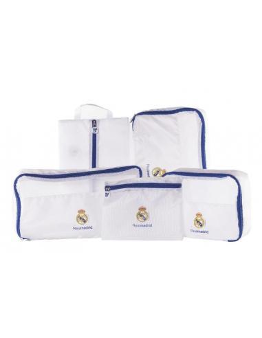 Organizador de Viaje 5 Piezas Blanco Real Madrid - Imagen 1