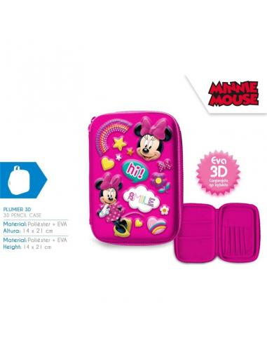 Plumier 3d vacio de Minnie Mouse (st24) - Imagen 1