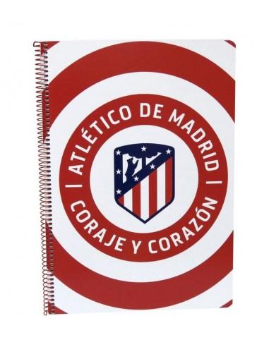 Cuaderno folio 80 hojas de Atlético De Madrid (10/30)