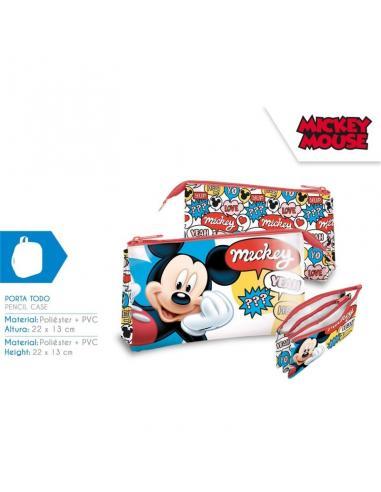 Estuche portatodo triple de Mickey Mouse (st24) - Imagen 1