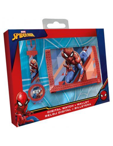 Set reloj digital + billetero Spiderman Marvel - Imagen 1