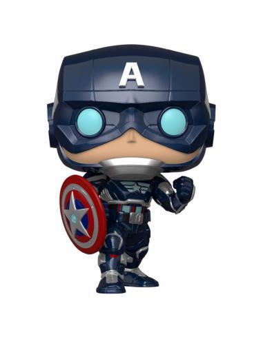 Figura POP Marvel Avengers Game Captain America Stark Tech Suit - Imagen 1