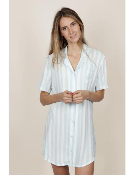 ADMAS CLASSIC Camisola Manga Corta Stripes para Mujer - Imagen 1