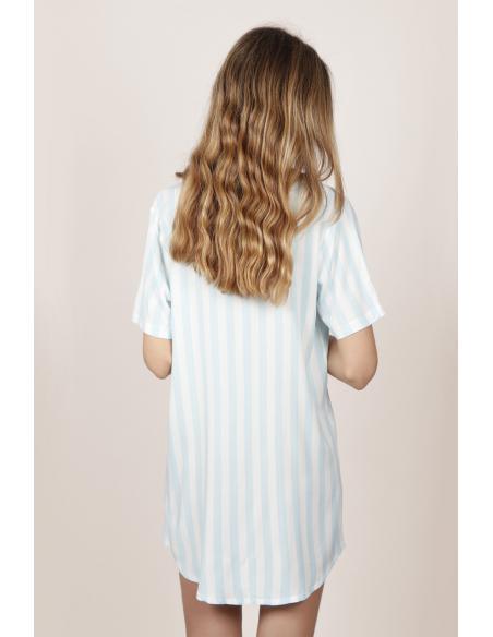 ADMAS CLASSIC Camisola Manga Corta Stripes para Mujer - Imagen 3