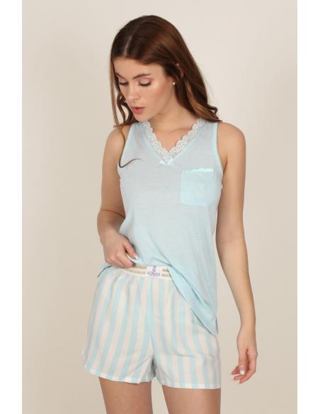 ADMAS CLASSIC Pijama Tirantes Classic Stripes para Mujer - Imagen 1