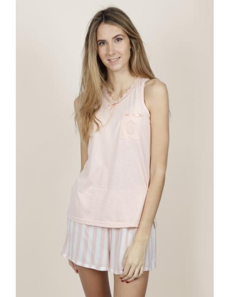 ADMAS CLASSIC Pijama Tirantes Classic Stripes para Mujer - Imagen 4
