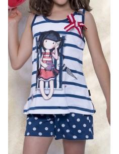 SANTORO Pijama Tirantes Summer Days para Niña - Imagen 1