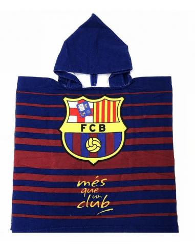 Toalla poncho playa 55x110cm de FC Barcelona - Imagen 1