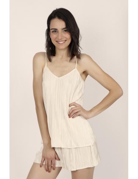 ADMAS CLASSIC Pijama Tirantes Pleated para Mujer - Imagen 1