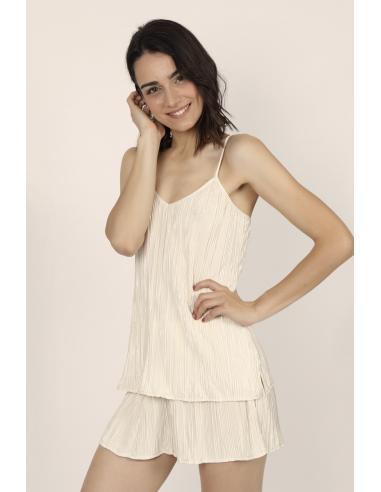 ADMAS CLASSIC Pijama Tirantes Pleated para Mujer - Imagen 2