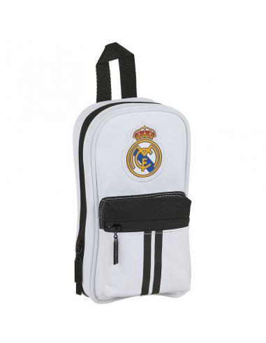 Plumier mochila con 4 portatodos llenos de Real Madrid '1ª Equip. 20/21' - Imagen 1