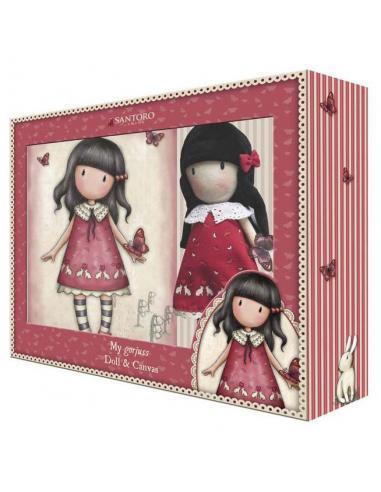 Set de regalo muñeca y lienzo de Gorjuss 'Time to Fly' - Imagen 1