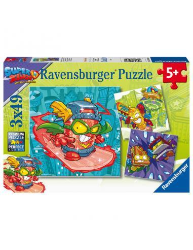 Puzzle Super Zings 3x49pz - Imagen 1