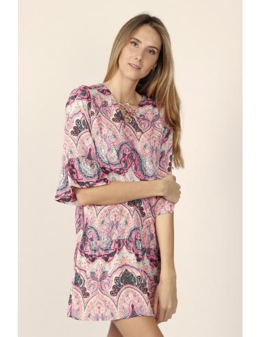 ADMAS Vestido Rose Cachemire para Mujer - Imagen 1