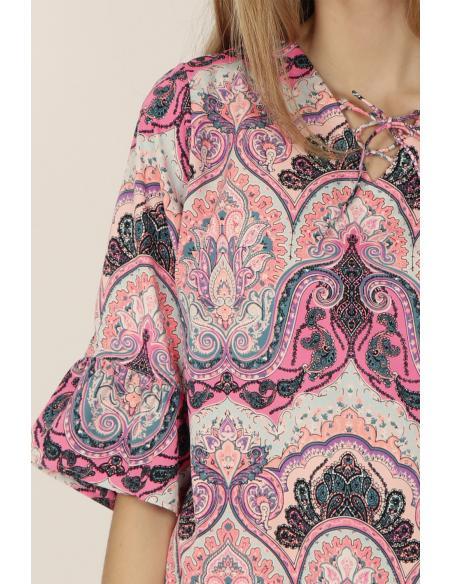 ADMAS Vestido Rose Cachemire para Mujer - Imagen 3
