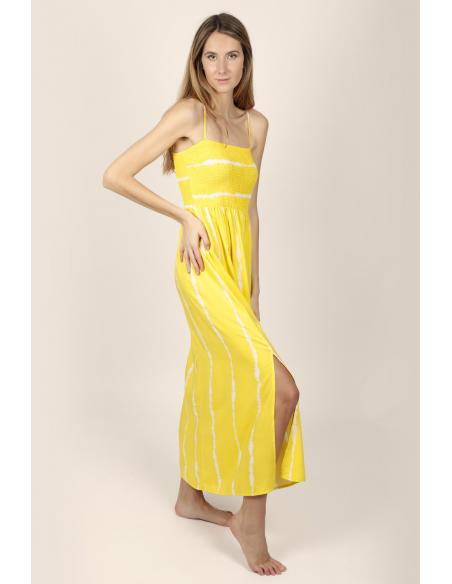 ADMAS Vestido Largo Playa de Tirantes Tie & Dye para Mujer - Imagen 3
