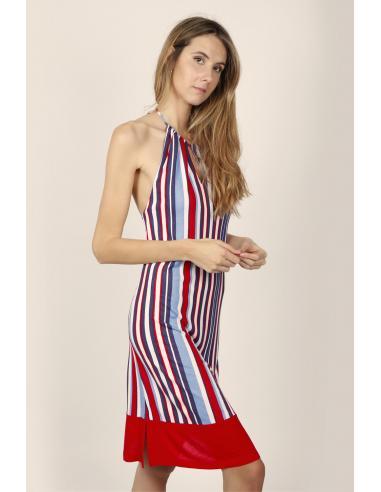 ADMAS Vestido Sin Mangas Elegant Stripes para Mujer - Imagen 2