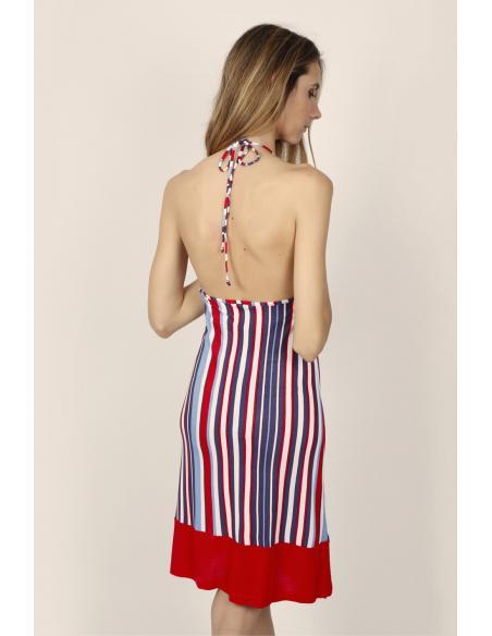 ADMAS Vestido Sin Mangas Elegant Stripes para Mujer - Imagen 3