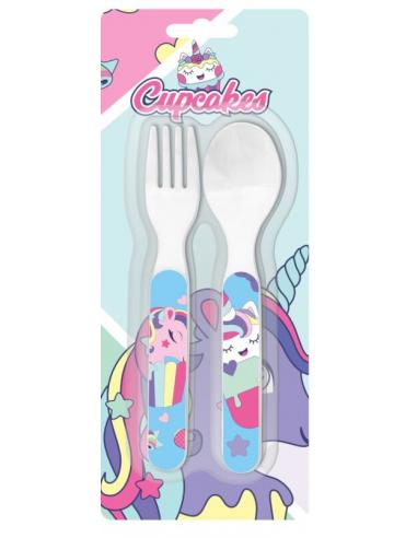 Set de cubiertos de Cupcakes (st24) - Imagen 1