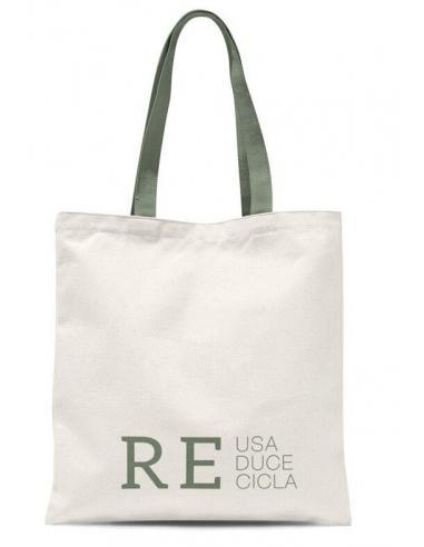 """Bolsa algodón Eco Life """"Reusa, Reduce y Recicla"""" (4/8 - 12) - Imagen 1"""