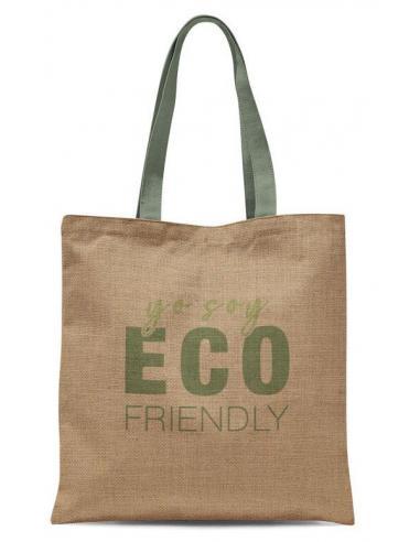 "Bolsa compra yute Eco Life ""Yo Soy Eco Friendly"" (4/8 - 12) - Imagen 1"
