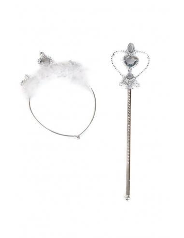 Set tiara, diadema y varita corazón - Imagen 1