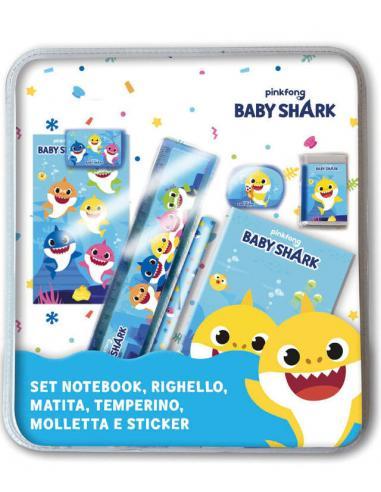 Set papeleria 7 piezas de Baby Shark - Imagen 1