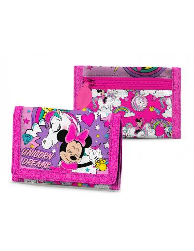 Cartera con velcro Believe in Unicorn de Minnie Mouse - Imagen 1